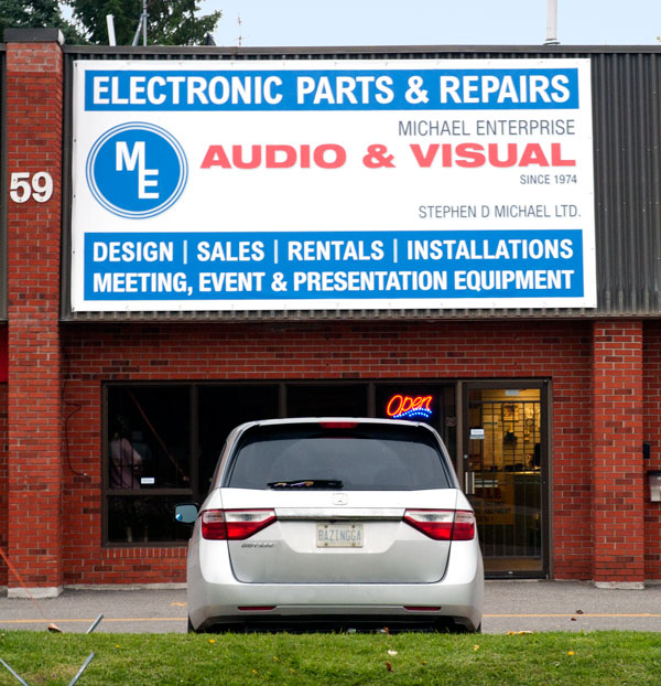 Michael Enterprise Audio & Visual store front